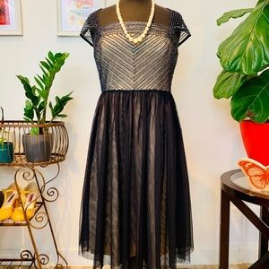 ♻️🌿ModCloth | Adrianna Papell Beaded Tulle Dress